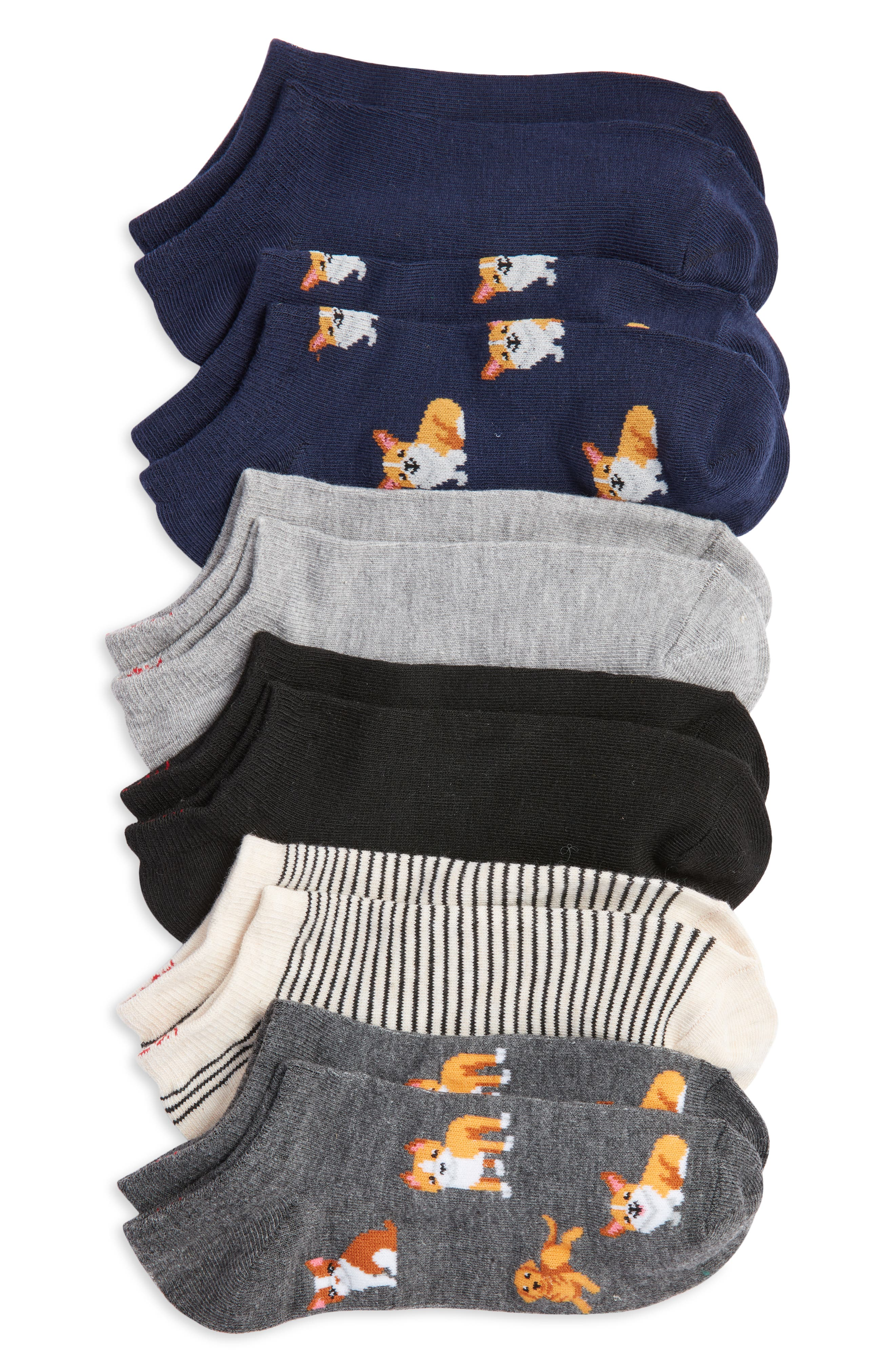 Dogs Assorted 6-Pack Ankle Socks