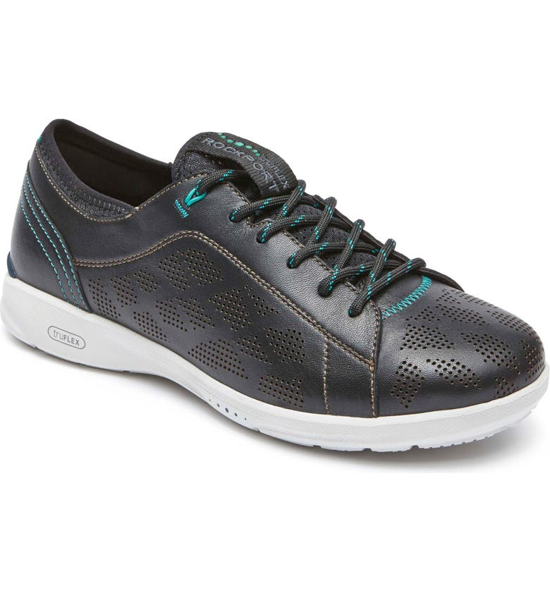 ROCKPORT truFLEX Perforated Sneaker, Main, color, 001