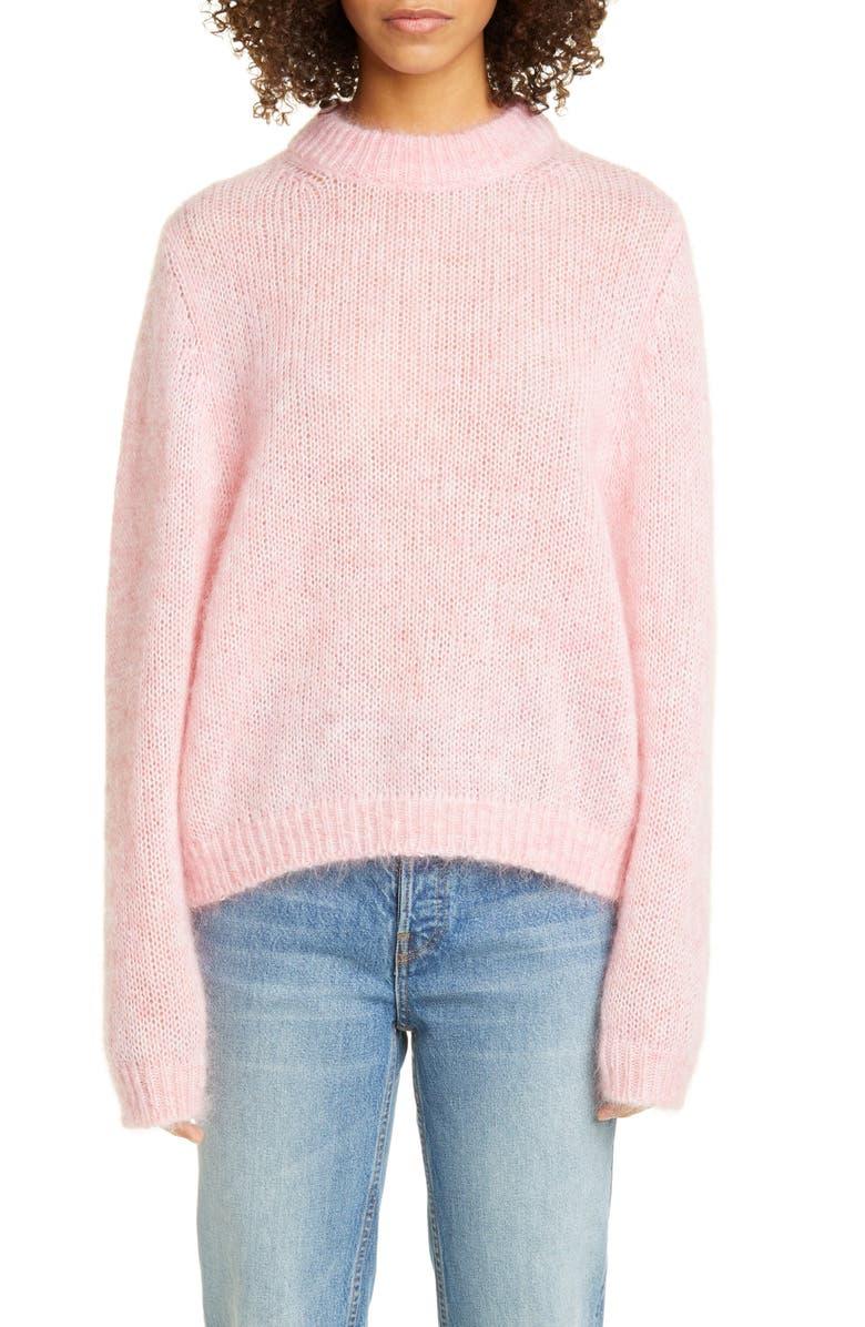 ROSEANNA Mohair Blend Sweater, Main, color, ROSE