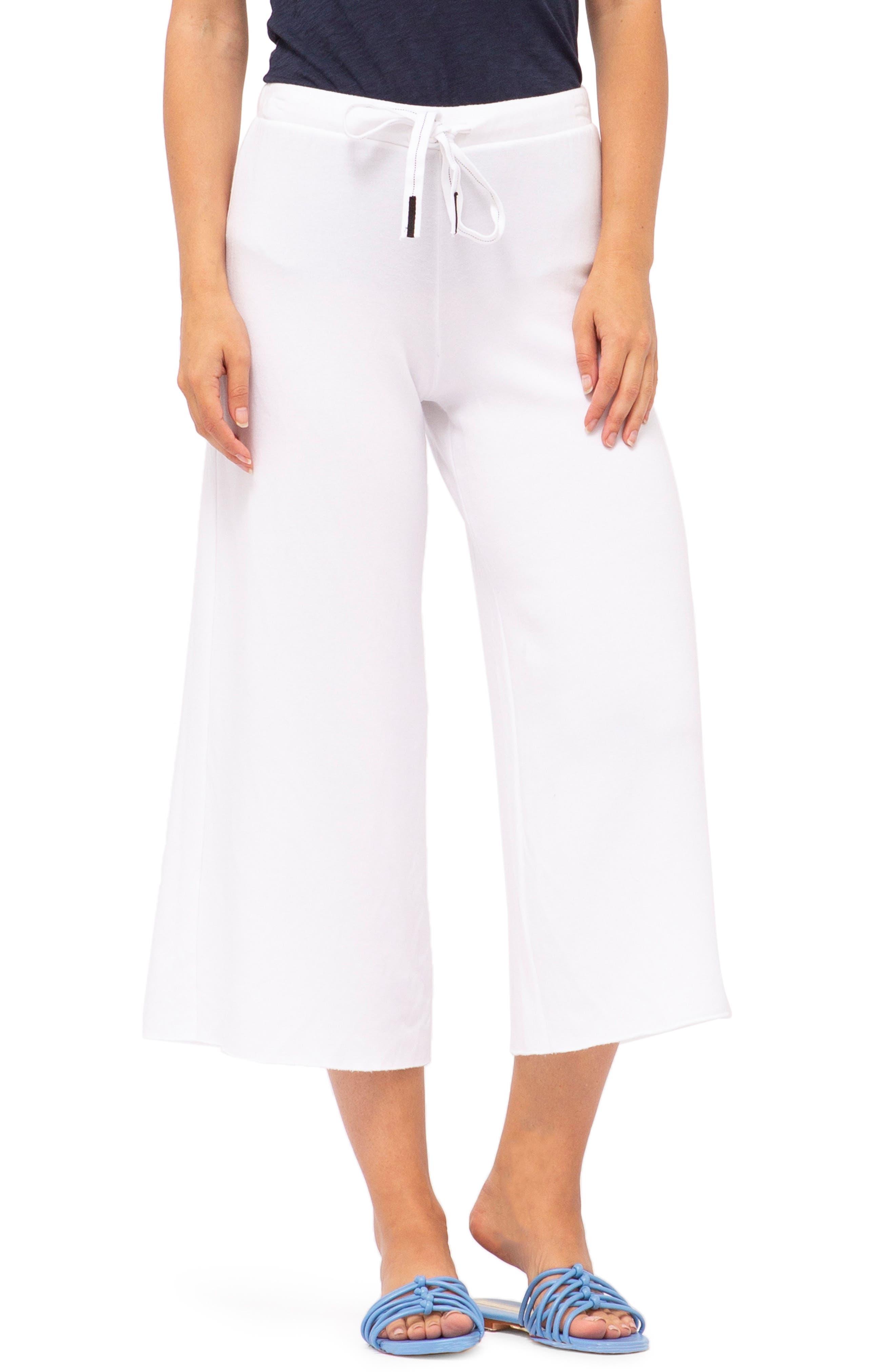 Stateside Crop Sweatpants, White