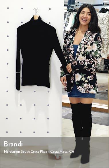 Rib Silk Blend Turtleneck Sweater, sales video thumbnail