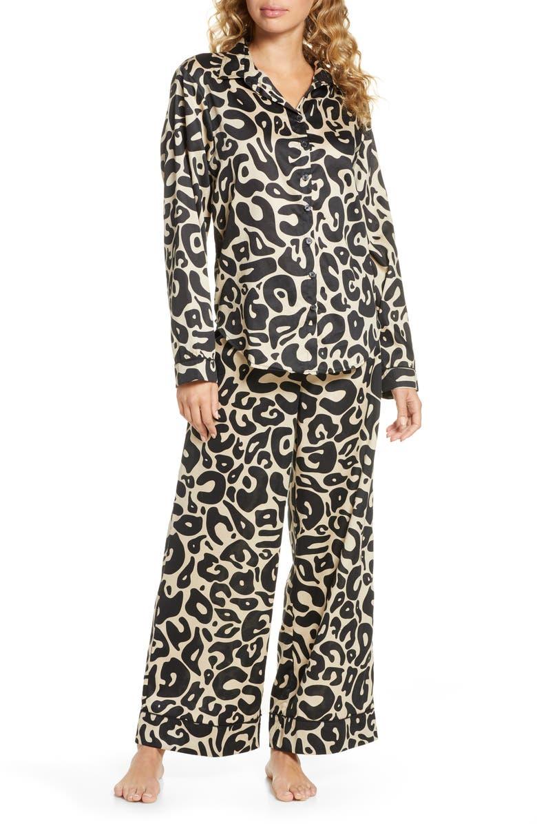 CHALMERS Suzie Long Pajamas, Main, color, PAINTED ANIMAL TAN