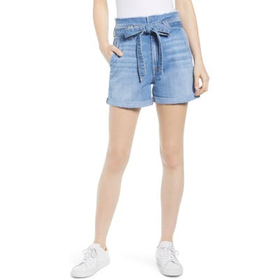 7 For All Mankind Paperbag Waist Shorts, Blue
