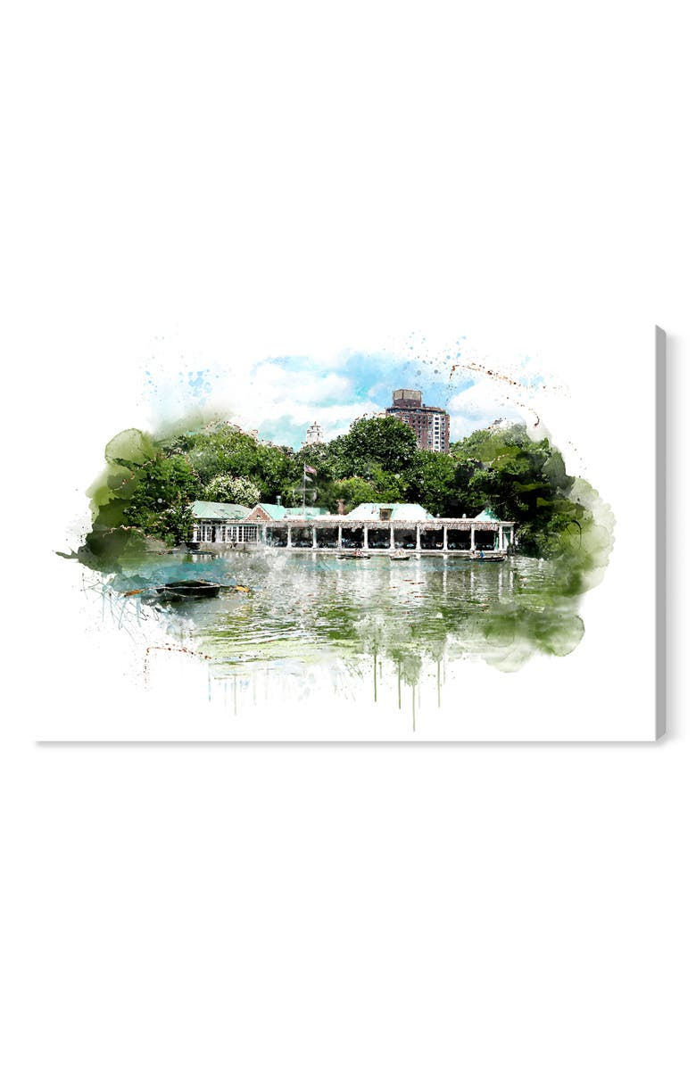 OLIVER GAL Weekend Boat House Canvas Wall Art, Main, color, WHITE