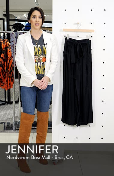 Silk Jacquard Tie Waist Pants, sales video thumbnail
