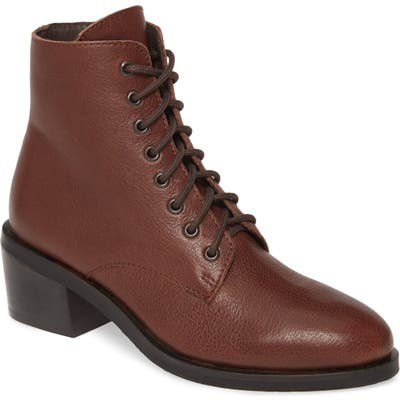 Jeffrey Campbell Gamin Lace-Up Bootie, Brown