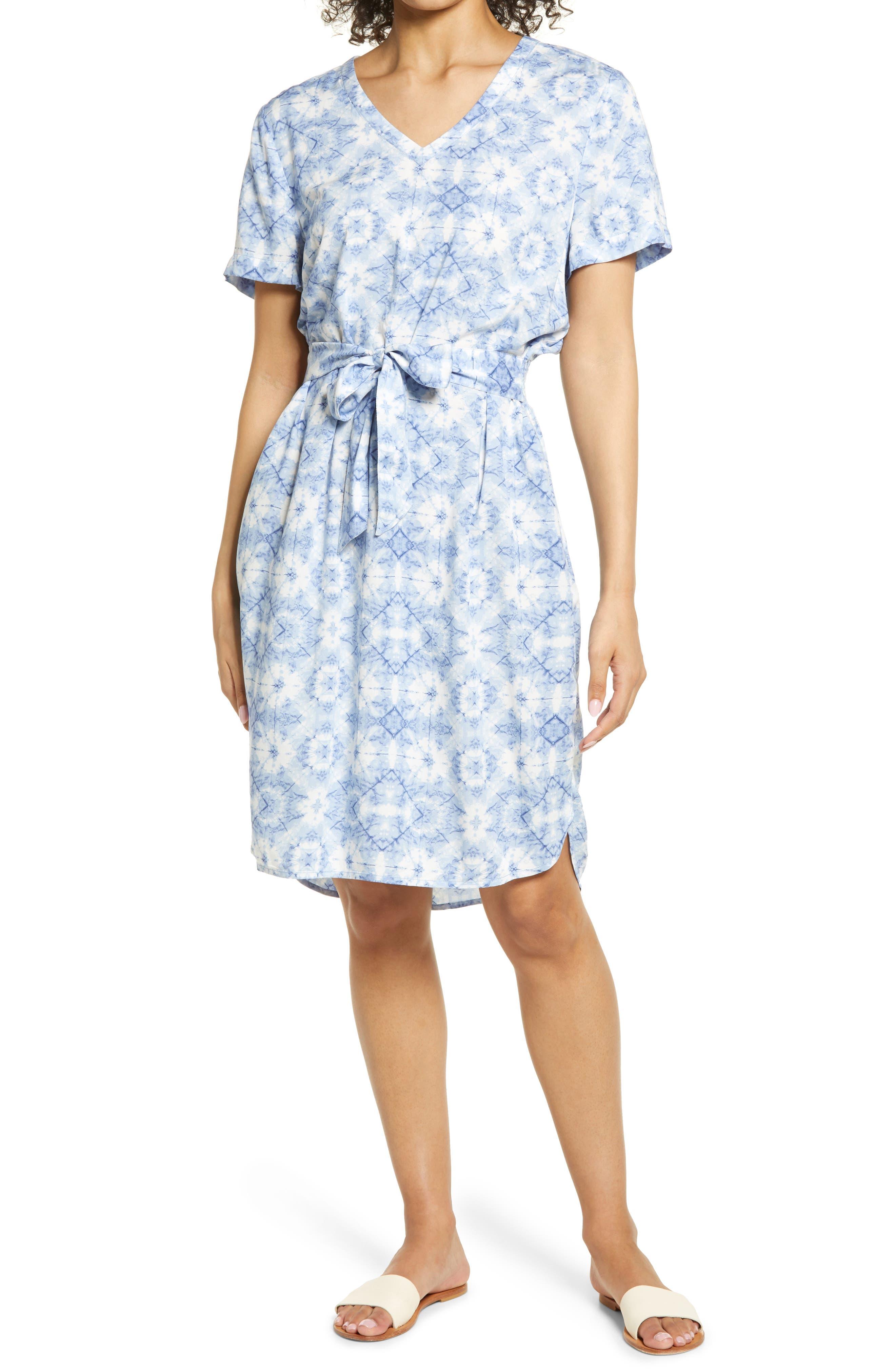 Mayla Print Belted Shift Dress