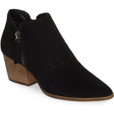 Vince Camuto Nethera Perforated Bootie, Black (Nordstrom Exclusive)