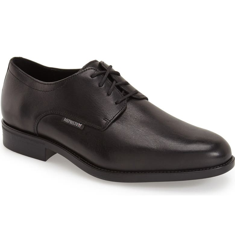 MEPHISTO 'Cooper' Plain Toe Derby, Main, color, BLACK CARNABY