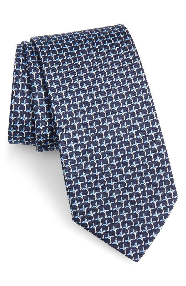 SALVATORE FERRAGAMO Palm Tree Silk Tie, Main, color, 491