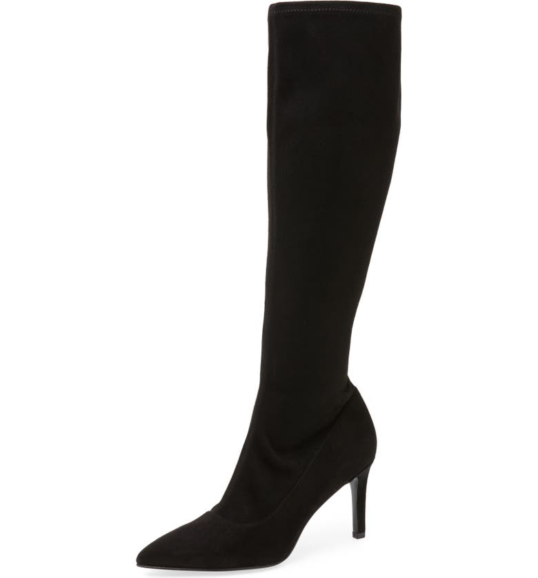 NINE WEST Carrara Knee High Pointy Toe Boot, Main, color, 001