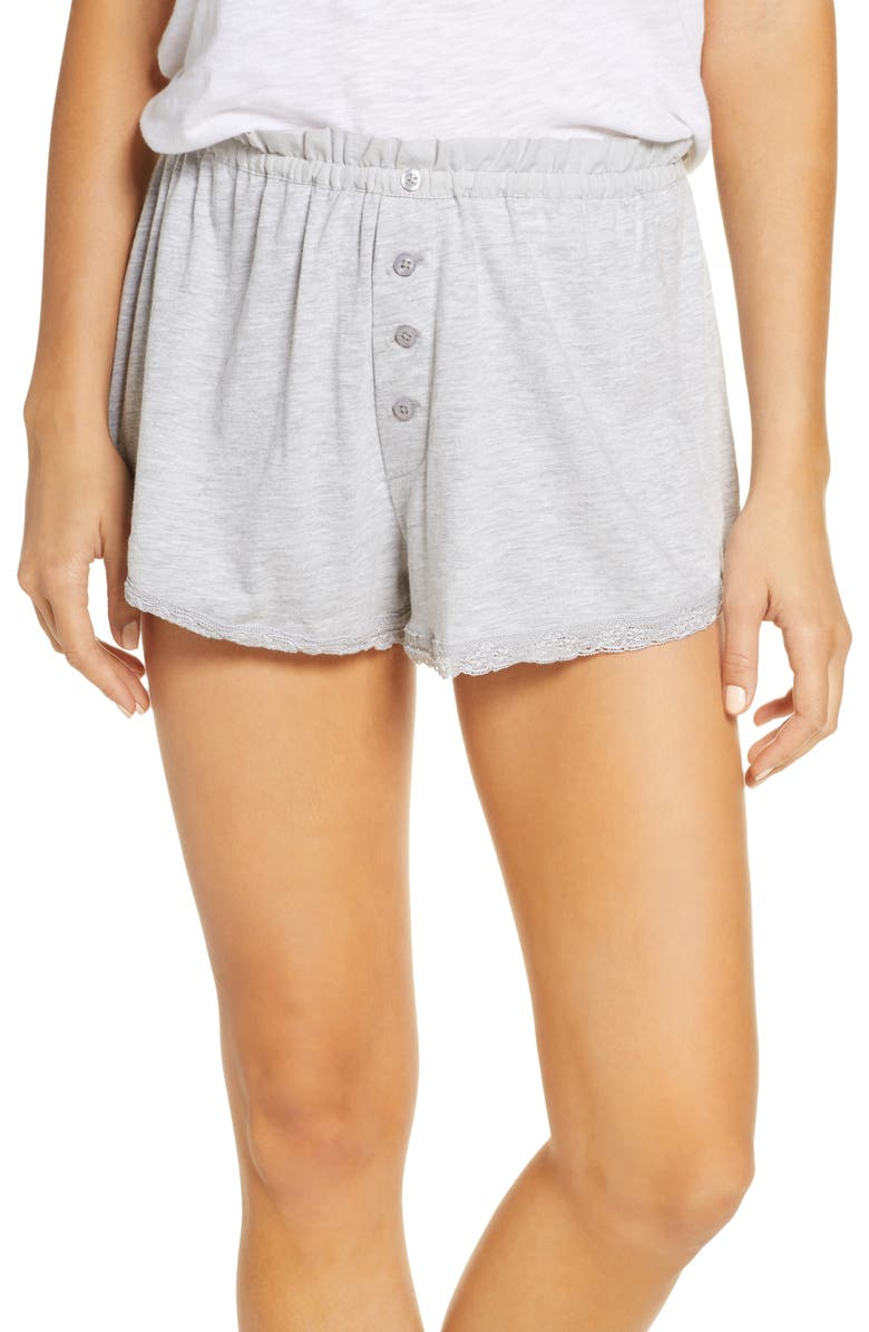 THE GREAT. The Lace Tap Shorts, Main, color, 020