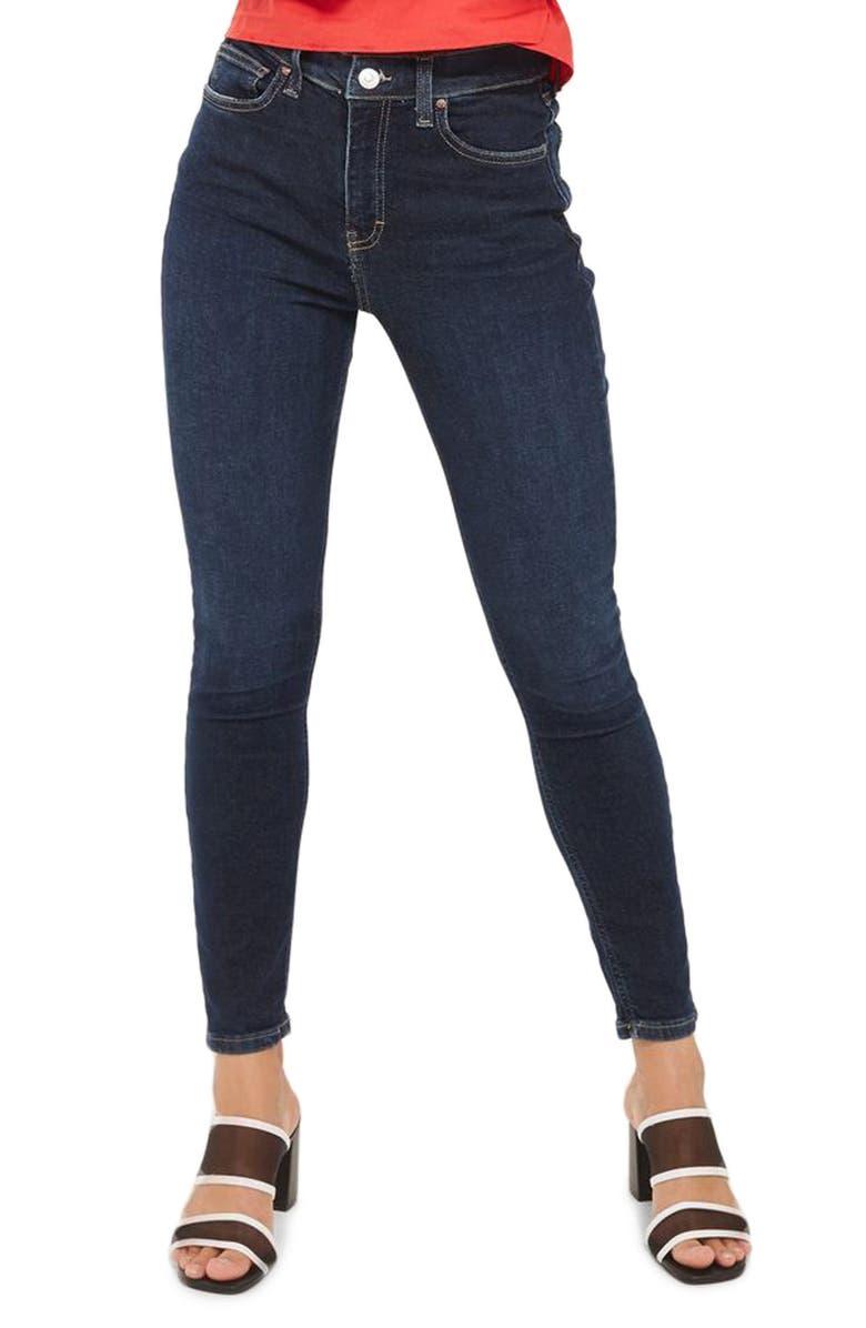 TOPSHOP Jamie High Waist Ankle Skinny Jeans, Main, color, 401
