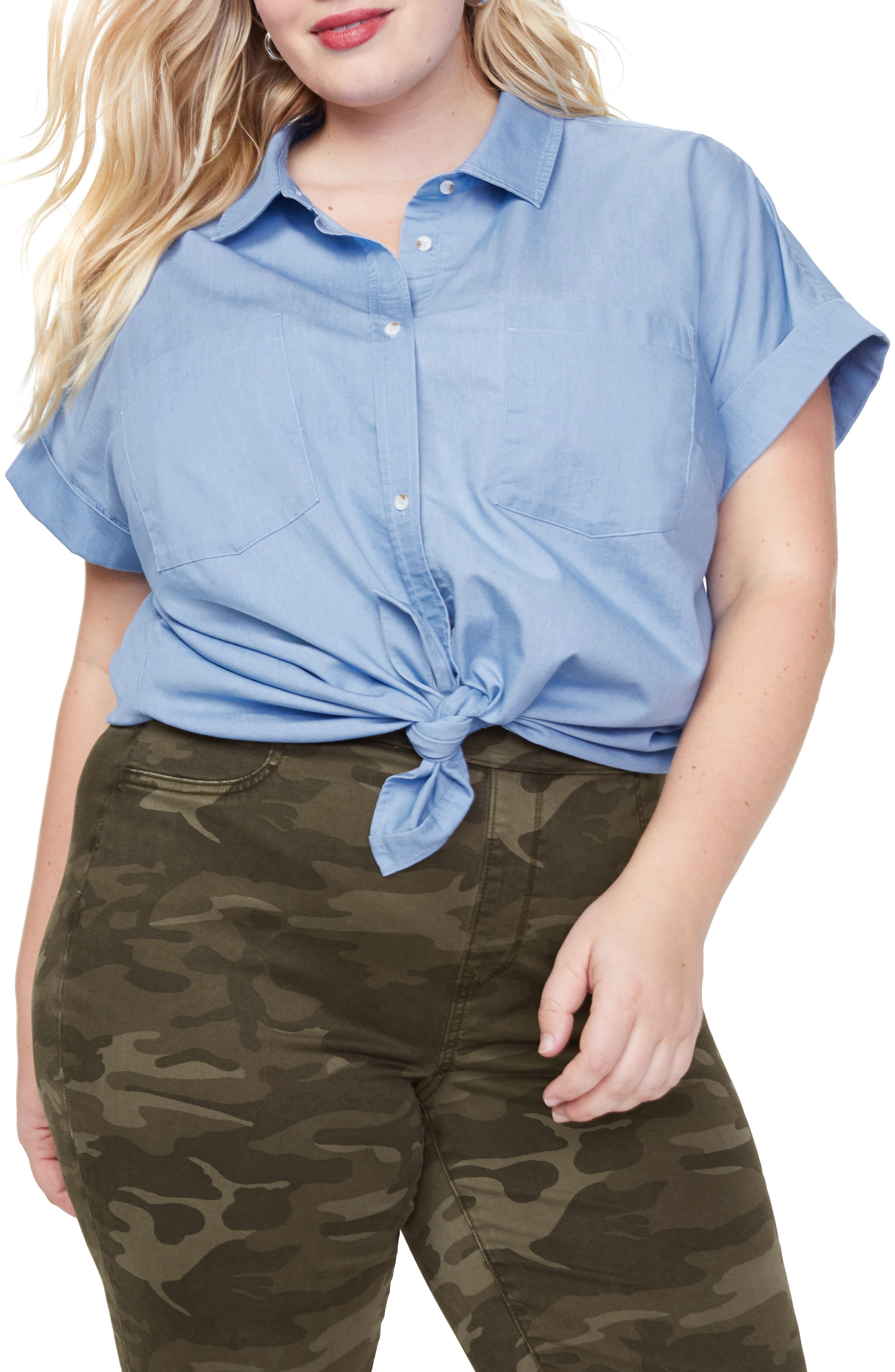 Image of NYDJ Camp Button Down Shirt