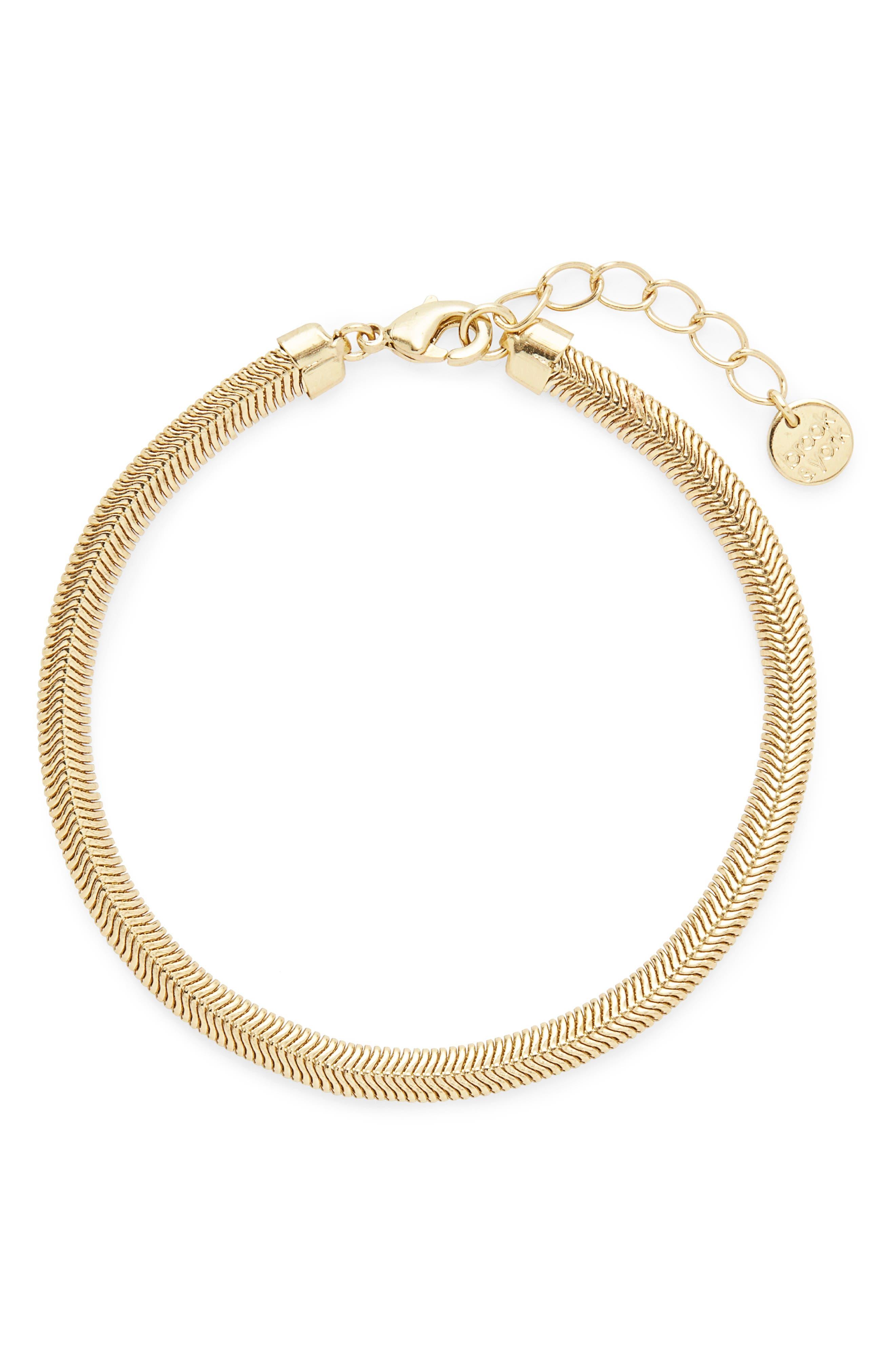 Izzy Herringbone Chain Bracelet