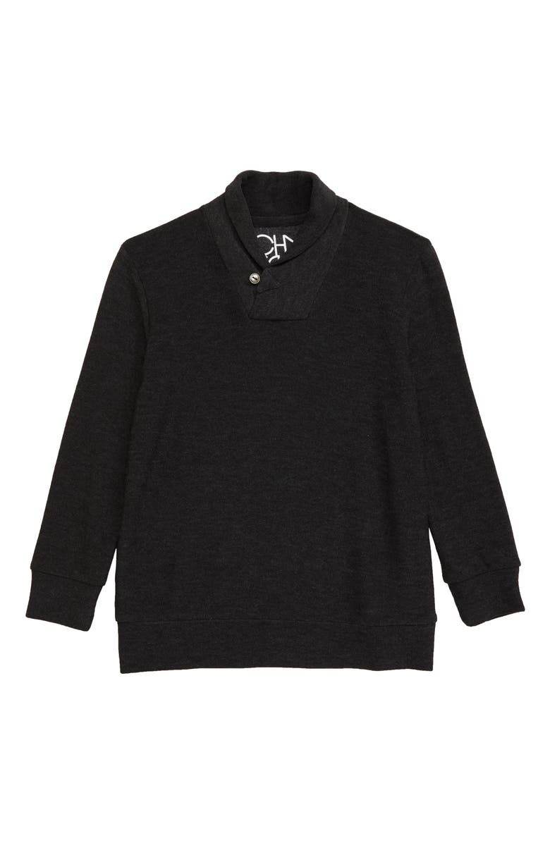 CHASER Shawl Collar Sweater, Main, color, 001