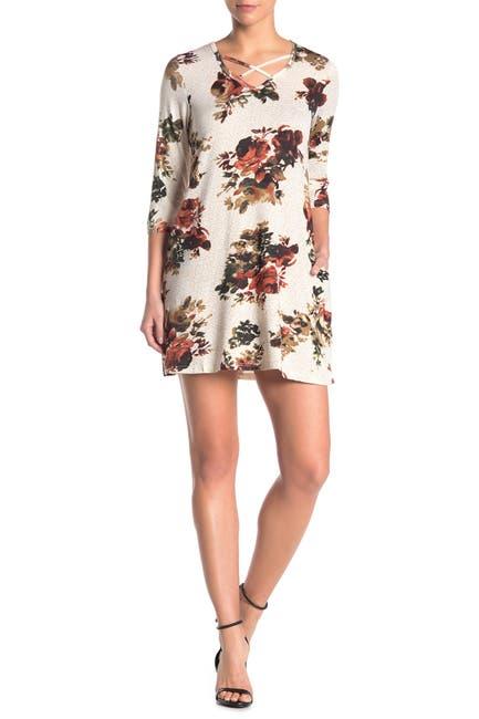 Image of Papillon Floral Criss-Cross Swing Dress
