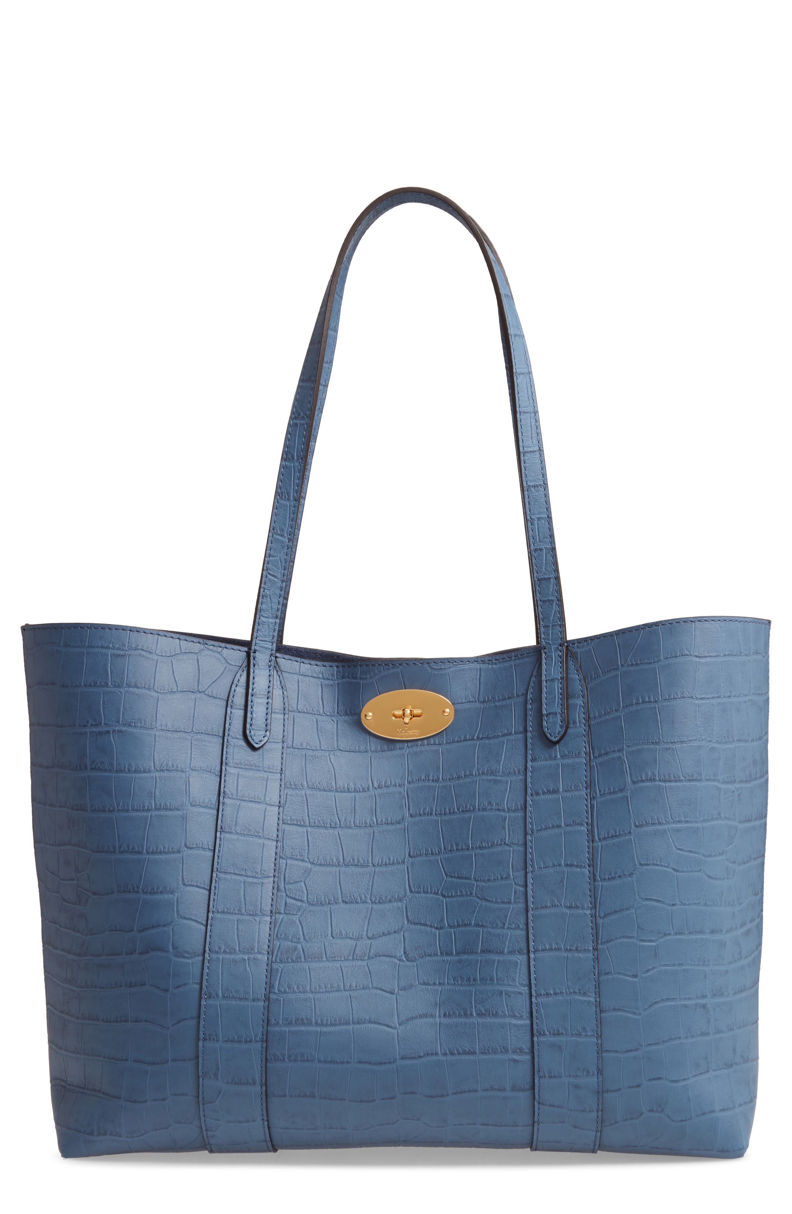 Mulberry Bayswater Matte Croc Embossed Leather Tote & Pouch   Nordstrom