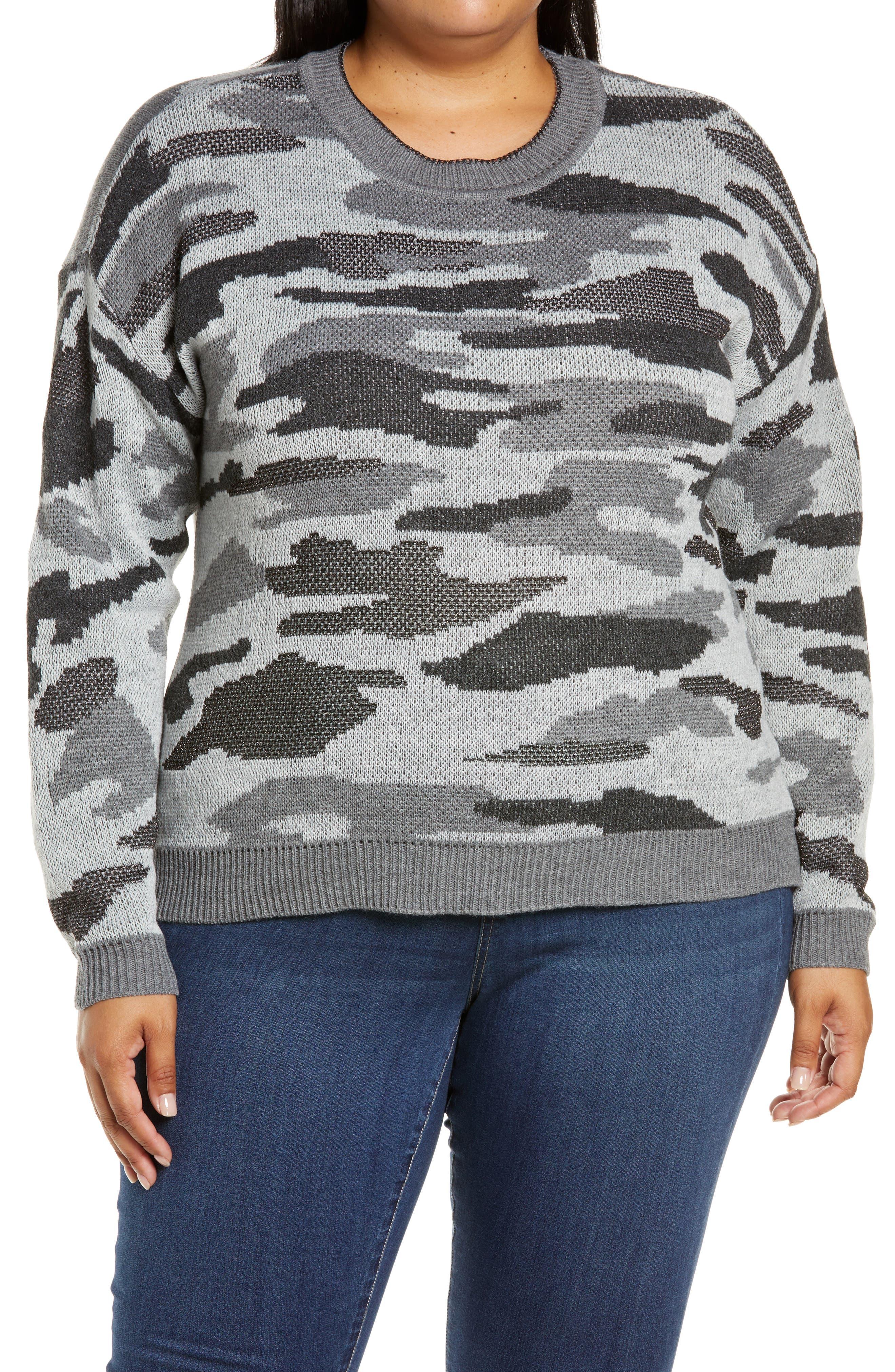 Camo Crewneck Sweater