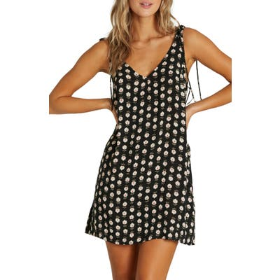 Billabong High Tied Shift Sundress, Black