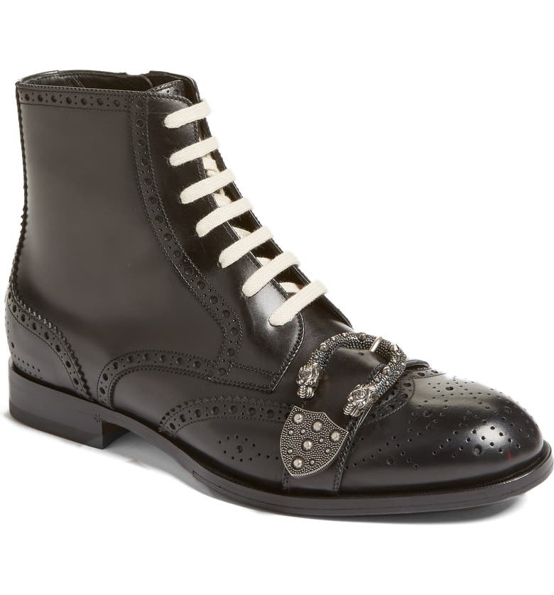 e0ca2933461 Gucci Queercore Buckle Strap Wingtip Boot (Men) | Nordstrom
