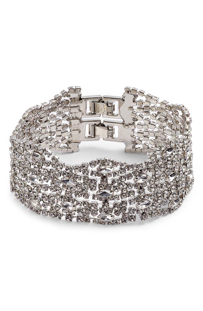 CRISTABELLE Fancy Crystal Five Row Bracelet, Main, color, 040