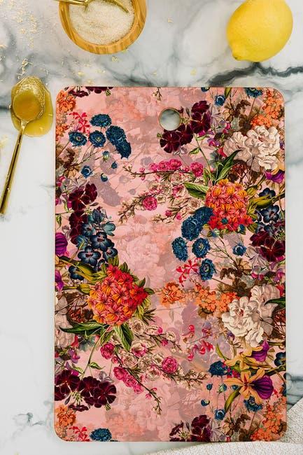 Image of Deny Designs Burcu Kokmazyurek Summer Botanical Garden VIIIB Rectangular Cutting Board