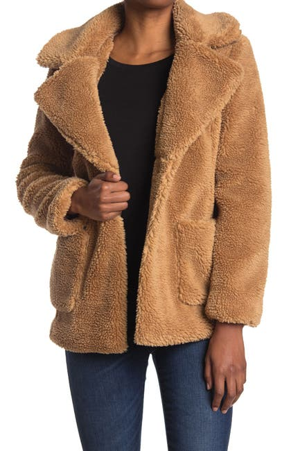 Sebby Womens Teddy Faux Shearling Jacket