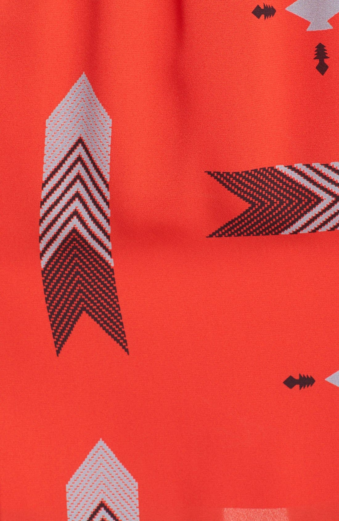 ,                             'Audrey' Print Flutter Sleeve Dress,                             Alternate thumbnail 2, color,                             601