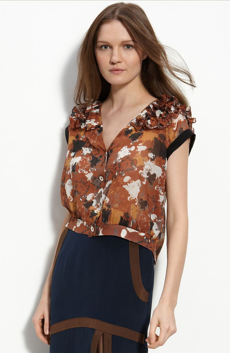 RADENRORO 'Ismi' Silk Blouse, Main, color, 200