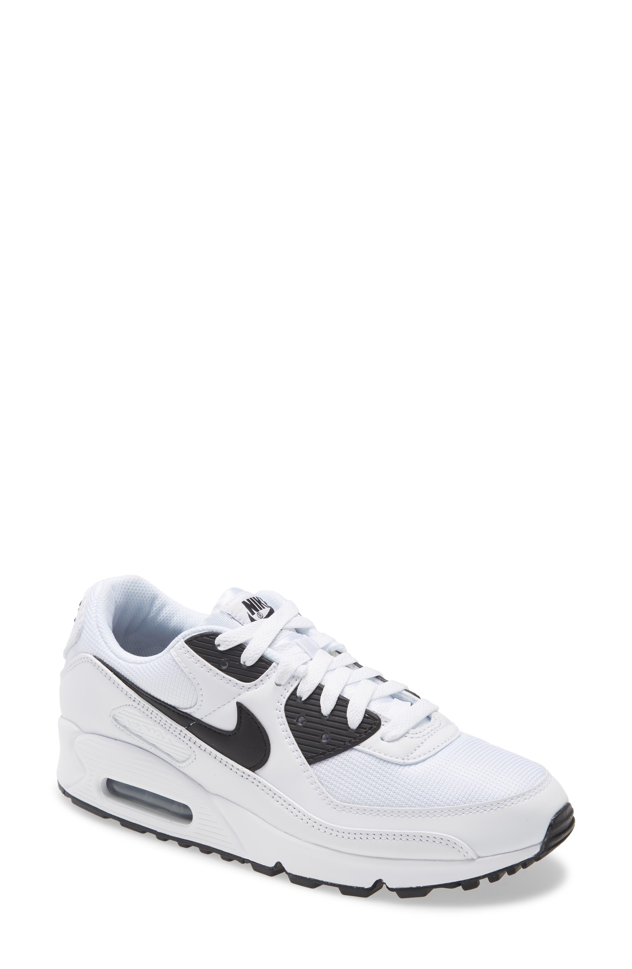 Men's Nike Air Max 90 Sneaker, Size 9 M - White | SportSpyder