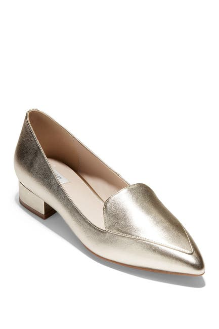 Image of Cole Haan Dellora Leather Block Heel Loafer
