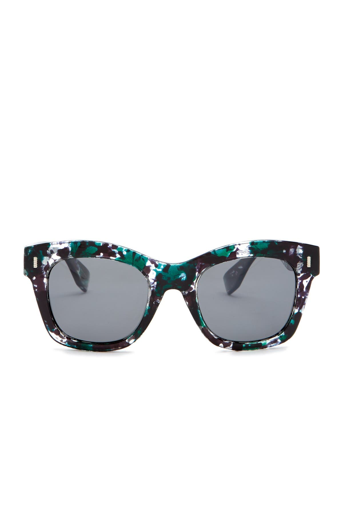 Image of Joe's Jeans 51mm Squared Cat Eye Sunglasses