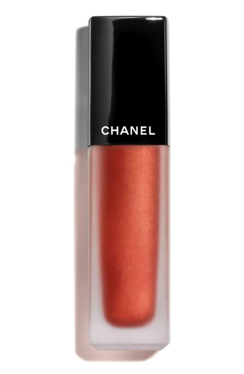 CHANEL ROUGE ALLURE INK <br />Matte Liquid Lip Color, Main, color, 206 METALLIC COPPER