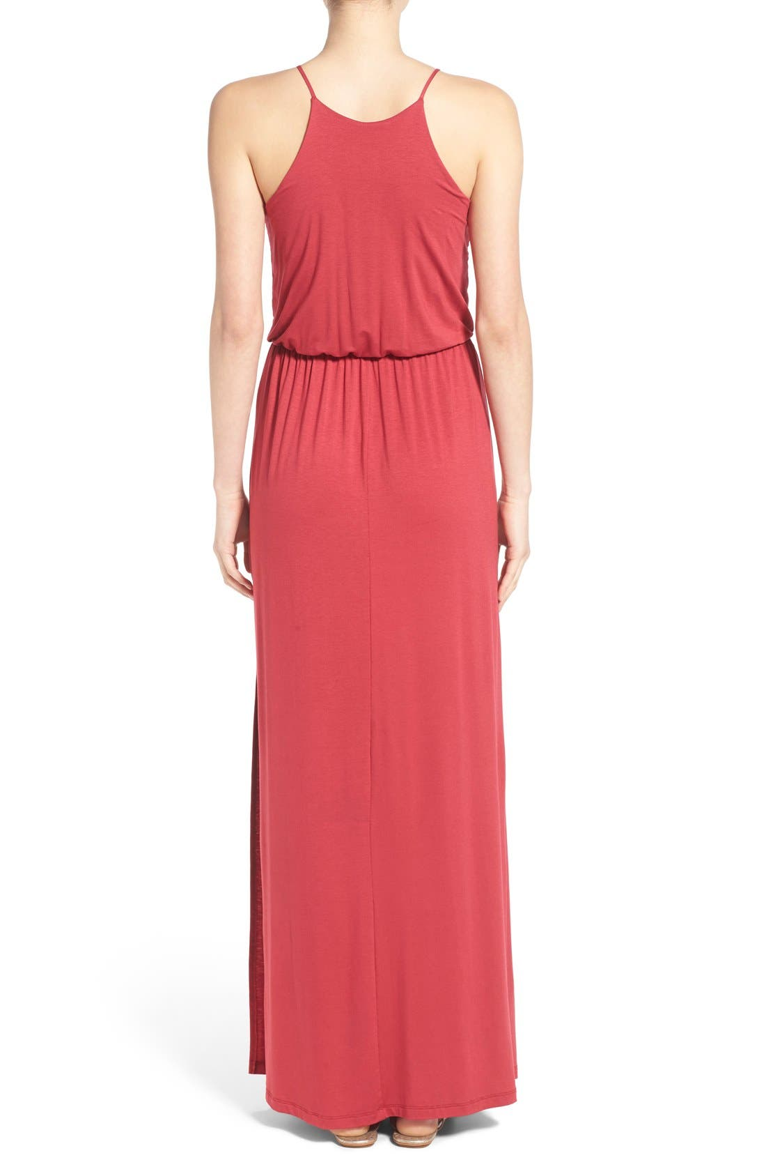 ,                             High Neck Maxi Dress,                             Alternate thumbnail 118, color,                             600