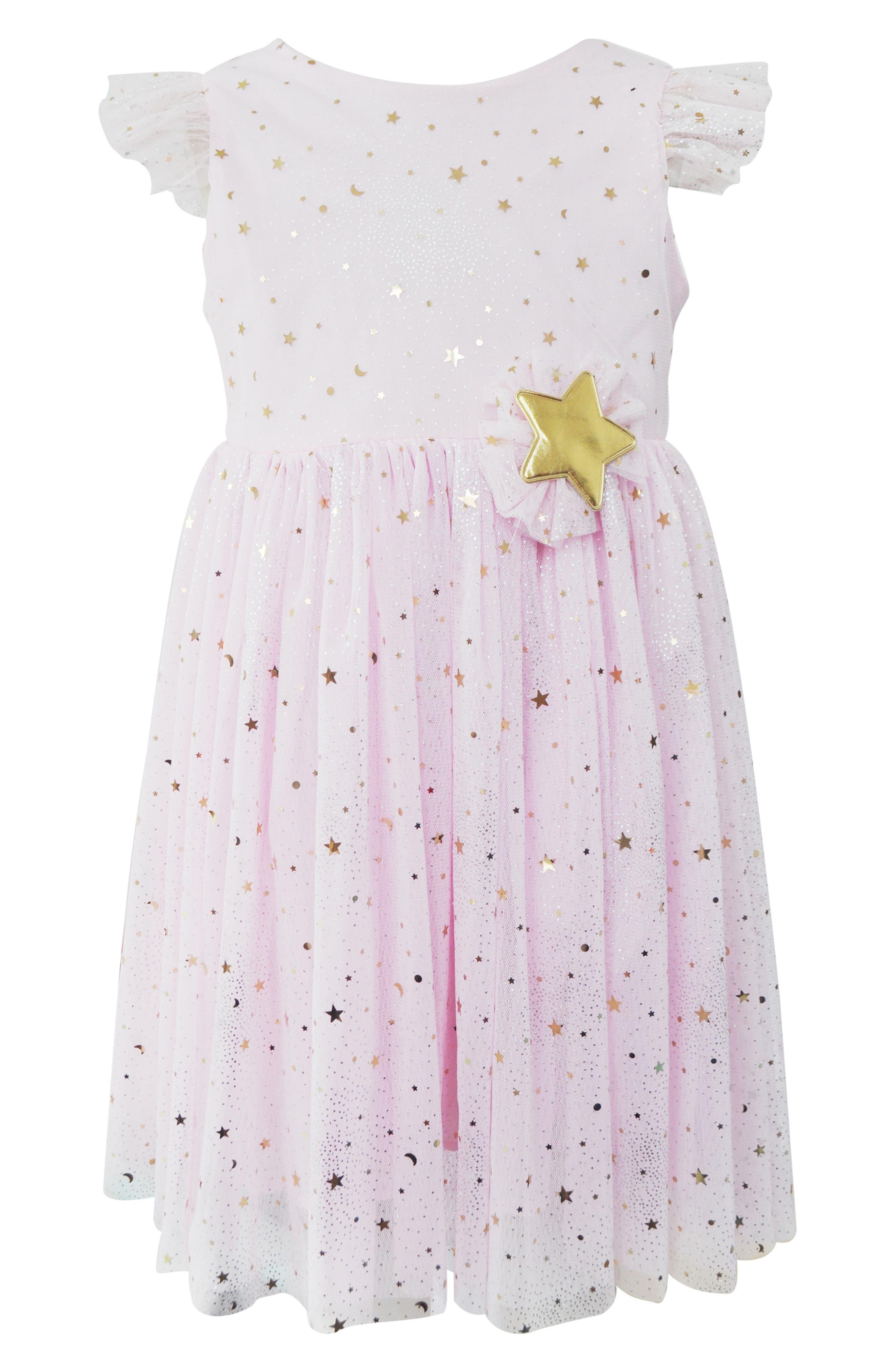 Image of Popatu Gold Foil Star Dress