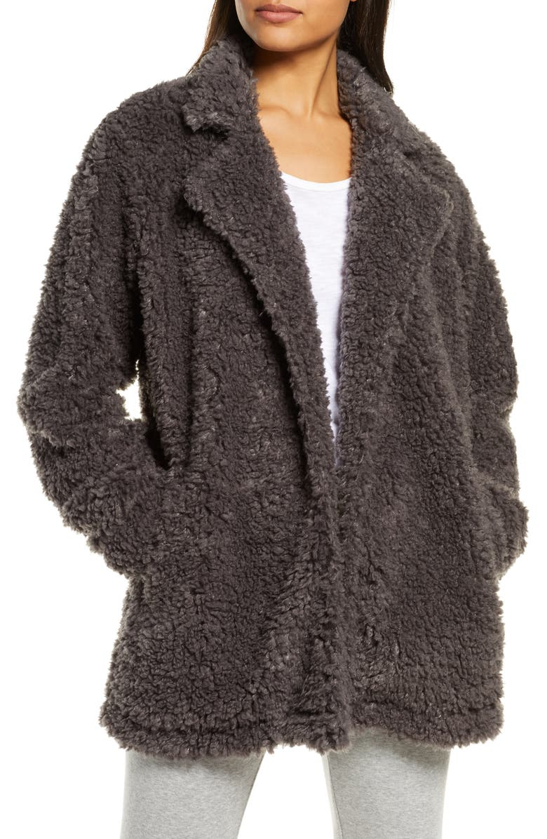 PJ SALVAGE Faux Shearling Jacket, Main, color, 020