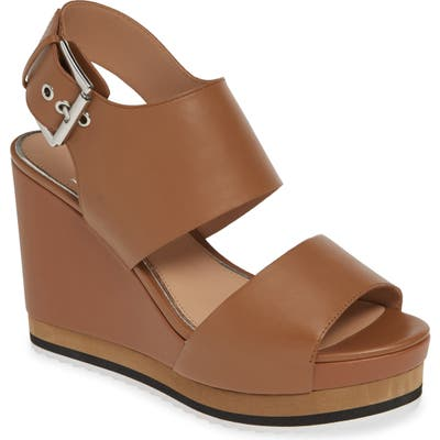 Linea Paolo Erika Wedge Sandal- Brown