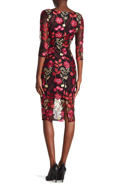 Image of Alexia Admor Floral Embroidered Sheath Dress