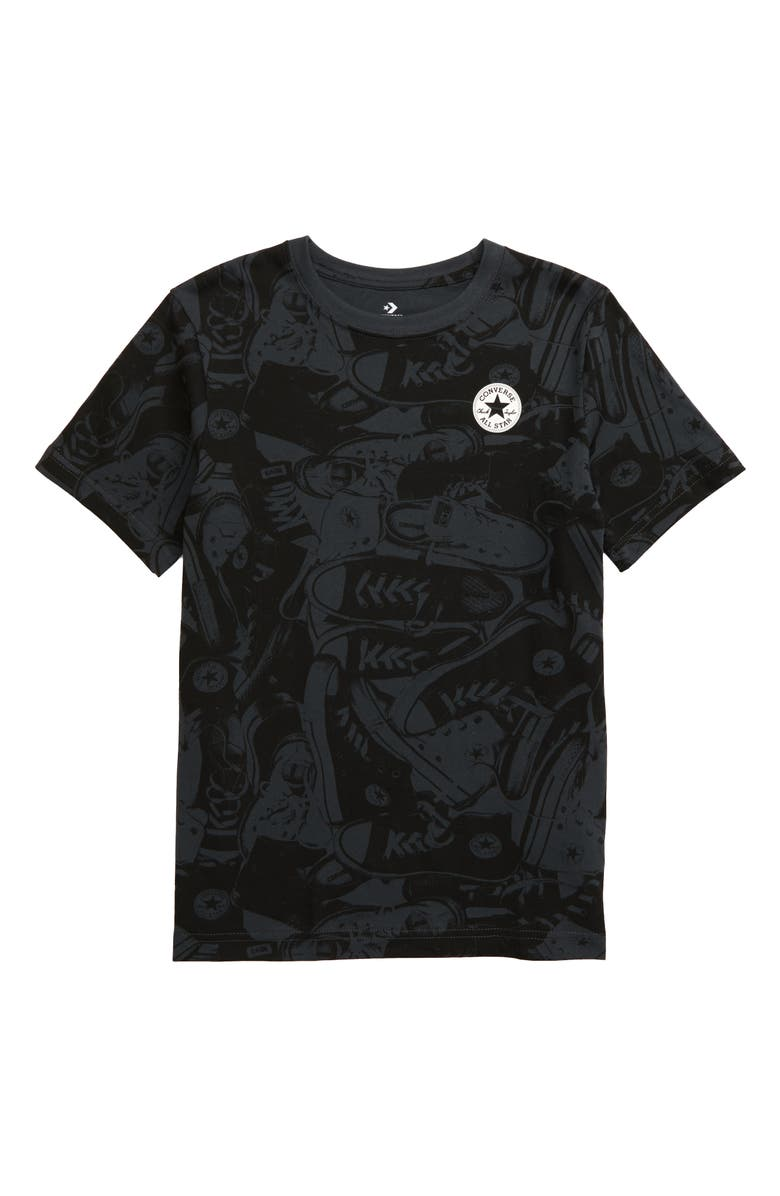 CONVERSE Chuck Print T-Shirt, Main, color, ANTHRACITE