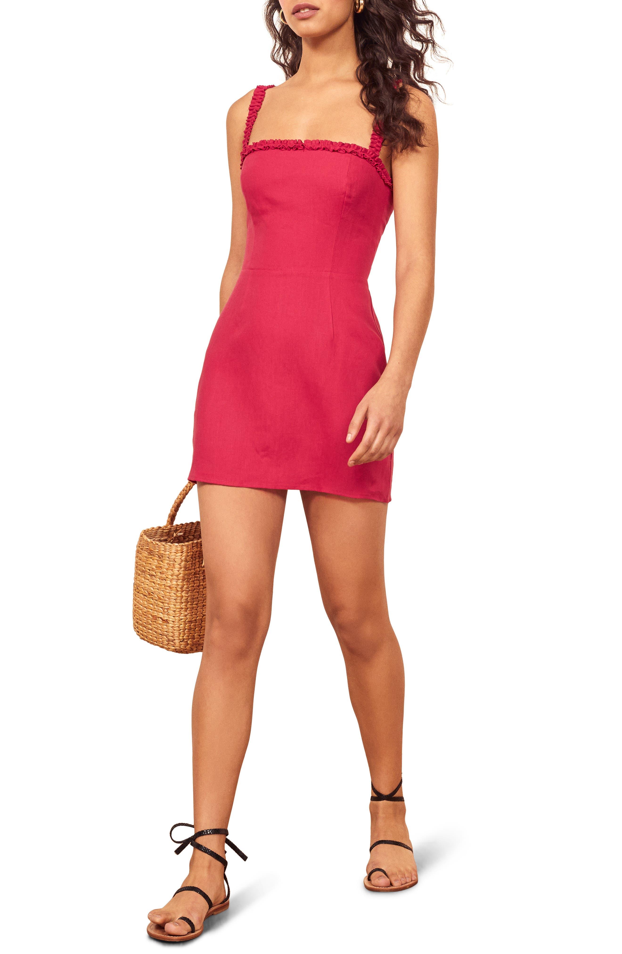 Reformation Janie Minidress, Pink
