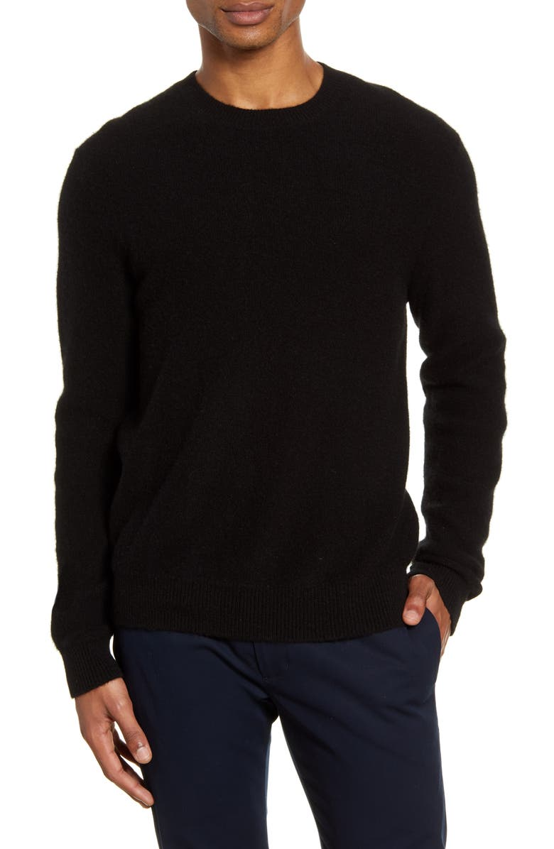 VINCE Cashmere Crewneck Sweater, Main, color, 001