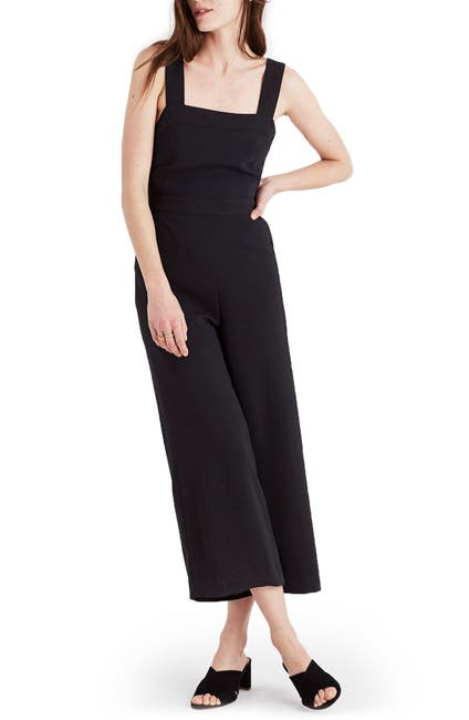 Image of Madewell Apron Bow Back Jumpsuit