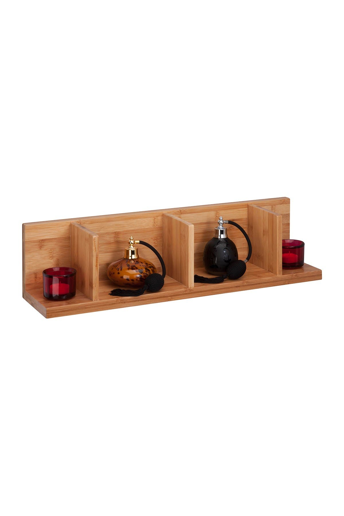 Image of Honey-Can-Do Large Sectioned Bamboo Wall Shelf