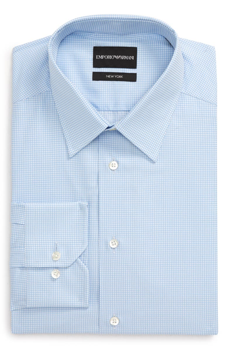 EMPORIO ARMANI Trim Fit Check Dress Shirt, Main, color, 414