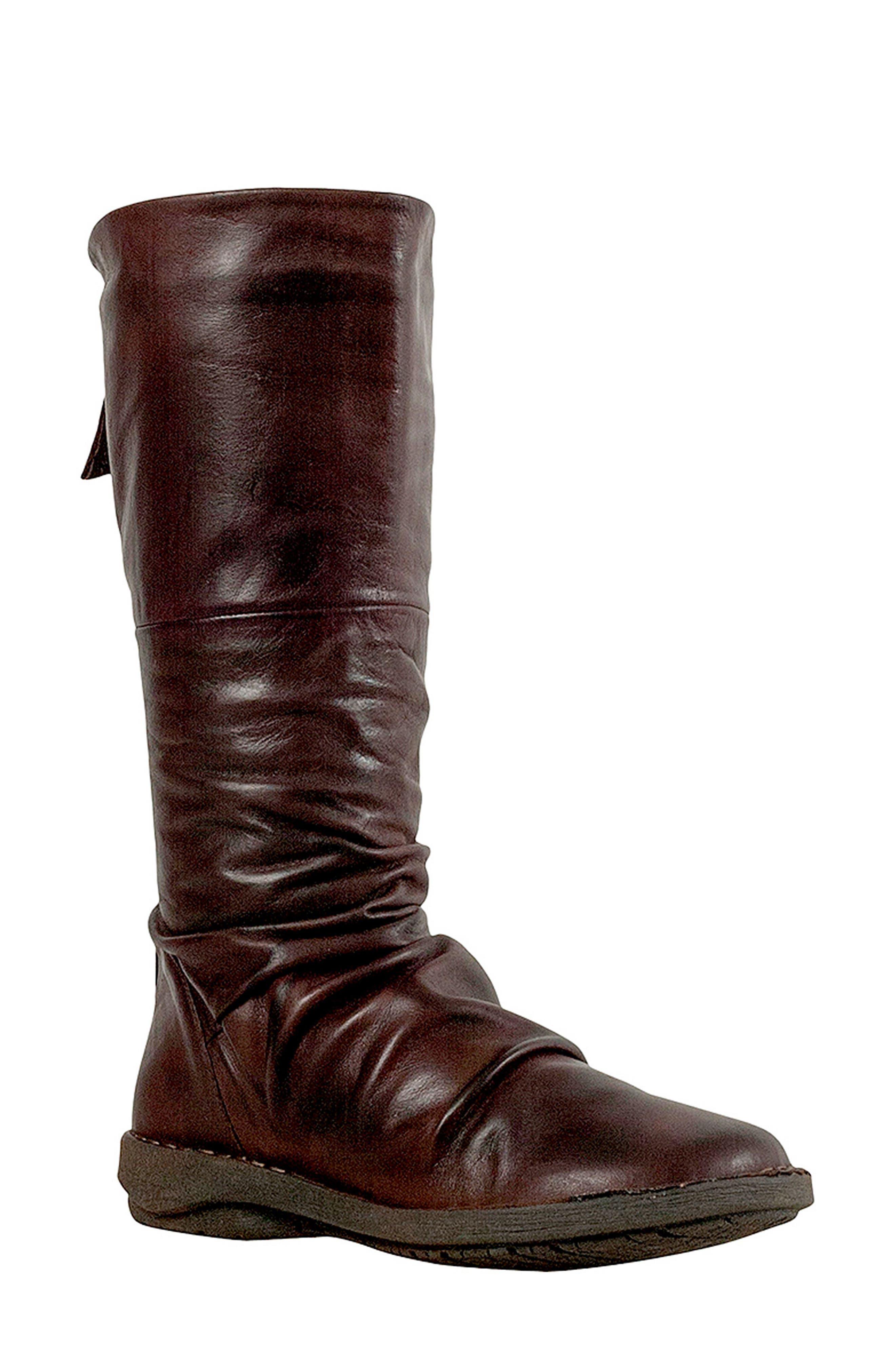 Miz Mooz Prima Slouch Boot, Brown