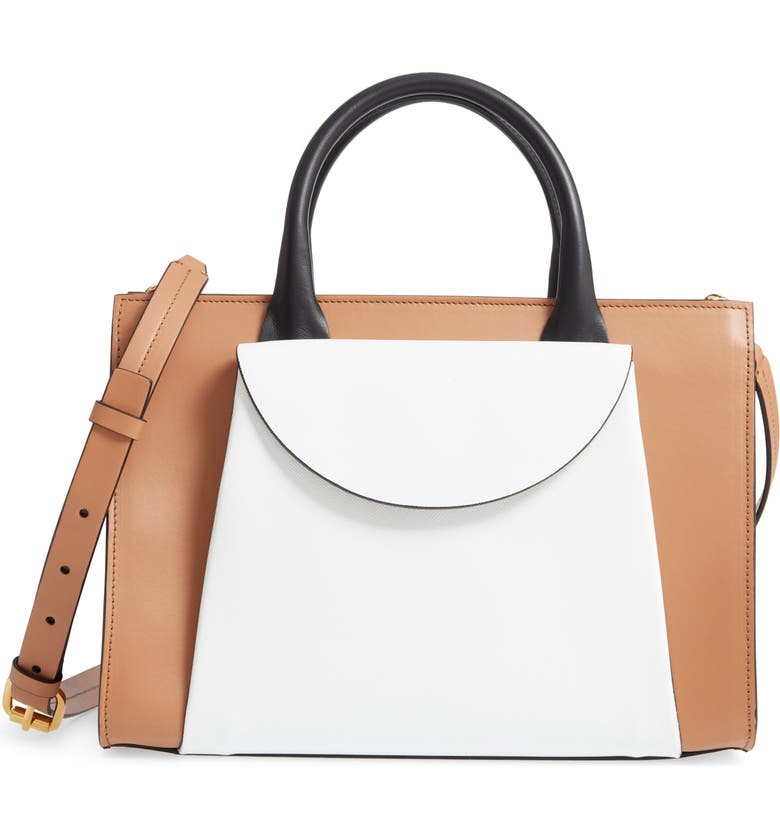 MARNI Medium Law Colorblock Top Handle Satchel, Main, color, 200