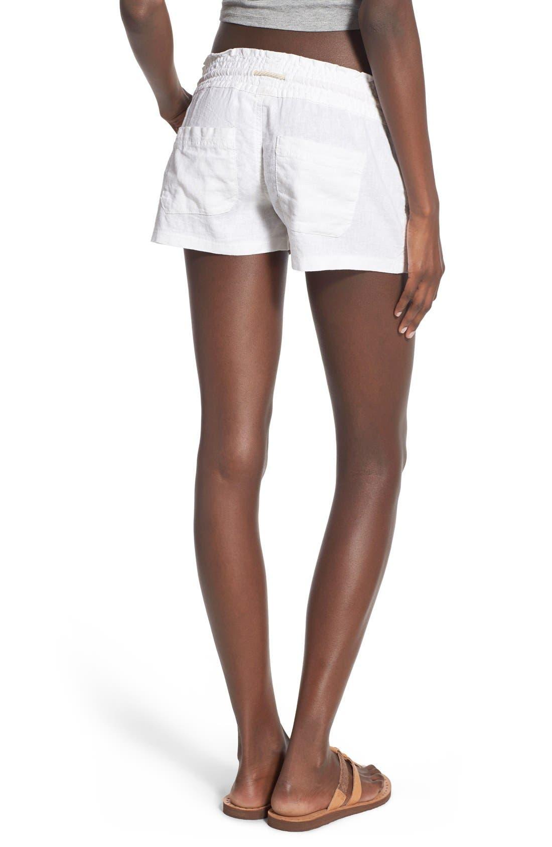 ,                             'Oceanside' Linen Blend Shorts,                             Alternate thumbnail 22, color,                             101