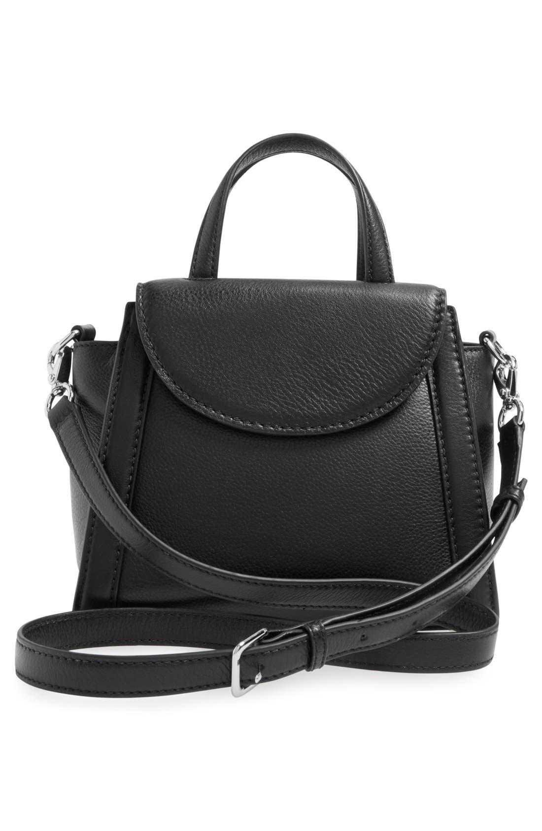 ,                             'cobble hill - small adrien' leather satchel,                             Alternate thumbnail 3, color,                             001