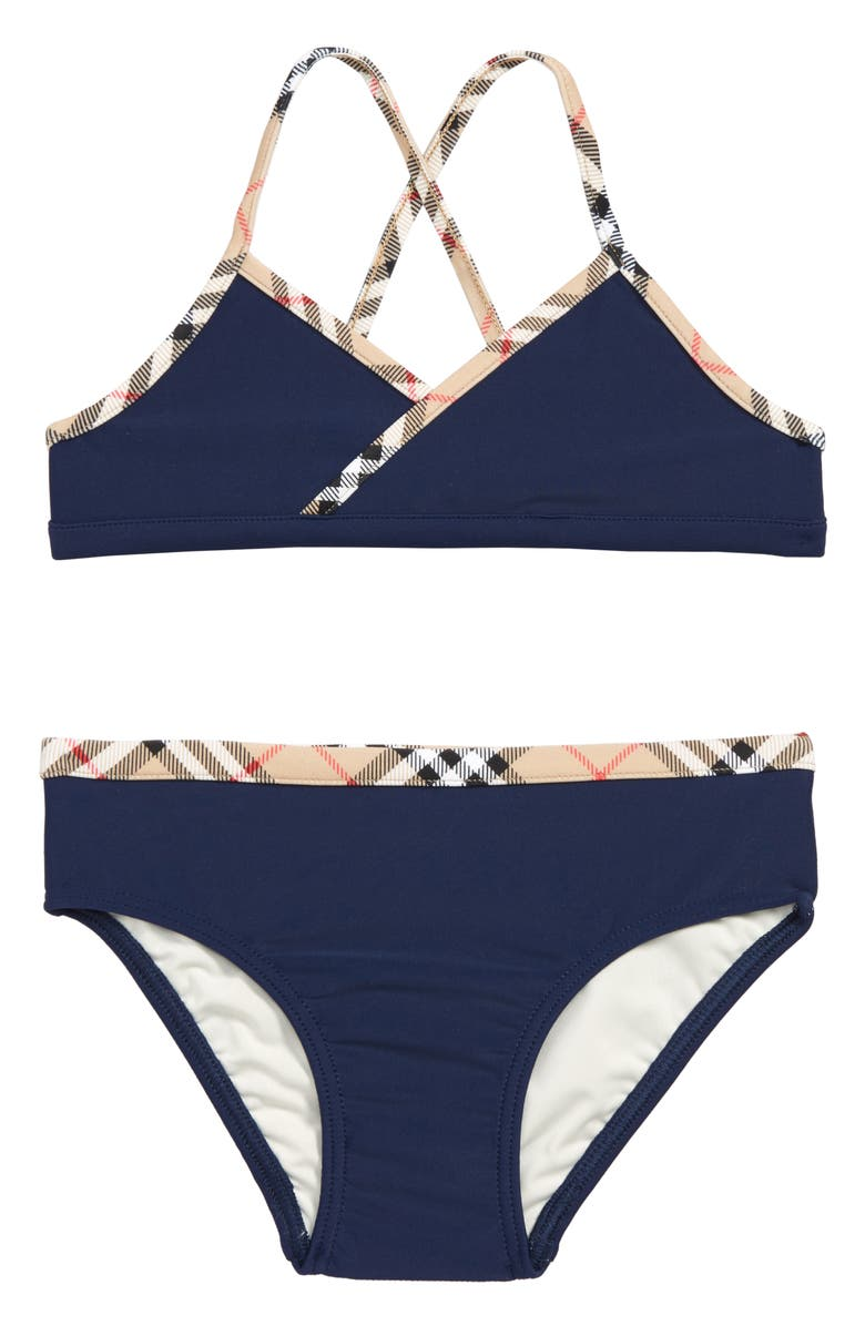 BURBERRY Crosby Two-Piece Swimsuit, Main, color, 400